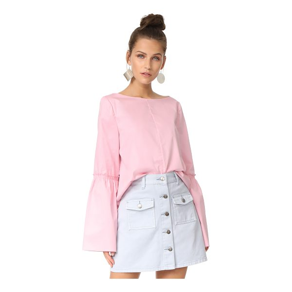 TIBI bell sleeve top - A boxy Tibi top with a lustrous feel. Long bell sleeves and...