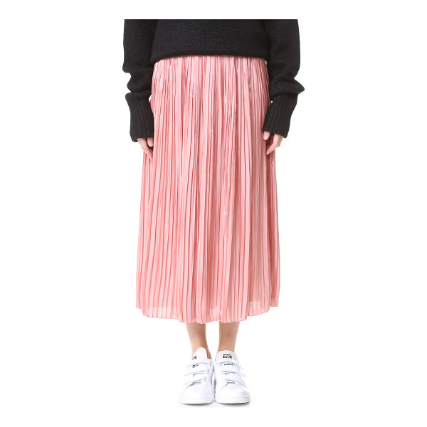 TIBI sunray flume pleated skirt - Accordion pleats accentuate the swingy shape of this...
