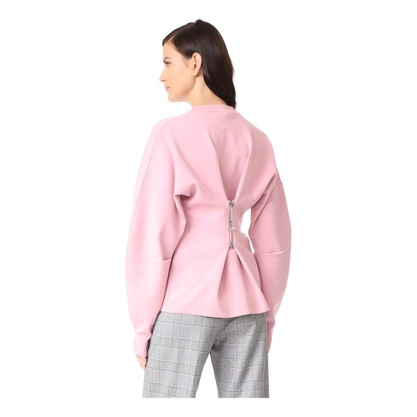 TIBI sweater with zip detail - This weighty Tibi sweater is detailed with a zipper at the...