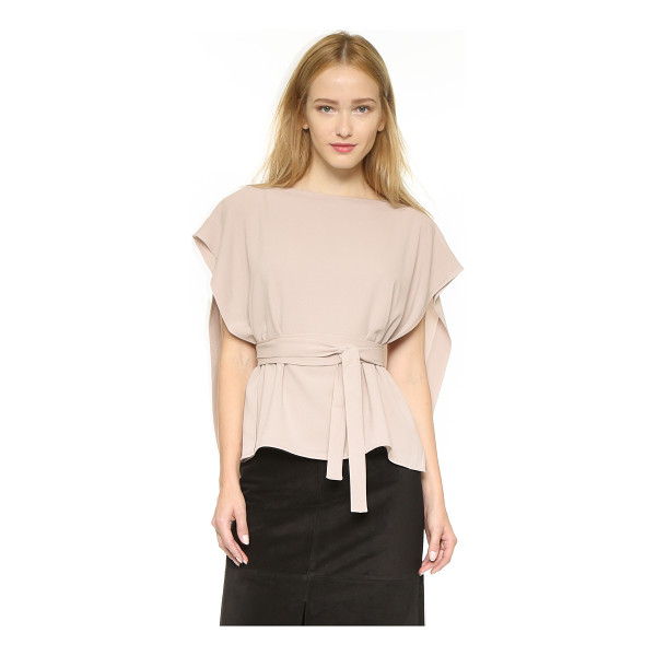 TIBI Tie front cape top - A voluminous overlay lends airy movement to this Tibi top....