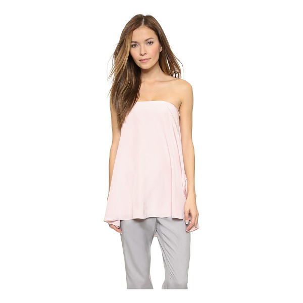TIBI Trapeze corset top - A flared hem lends flirty appeal to this strapless Tibi...