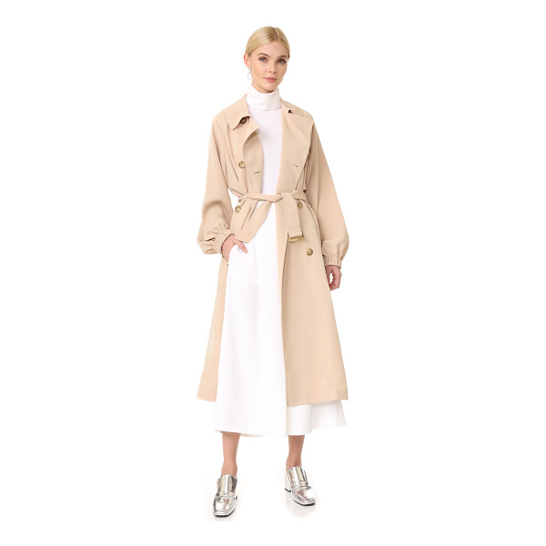 TIBI twill trench coat - A classic, double-breasted Tibi trench coat, updated with...