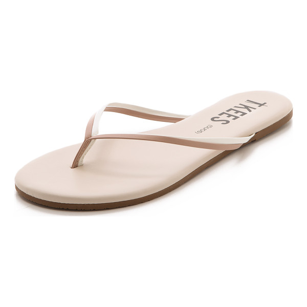 TKEES Duos flip flops - Leather TKEES flip flops in an elegant, neutral finish are...