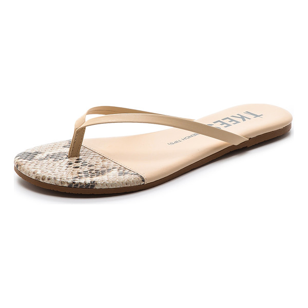 TKEES French tips flip flops - Classic TKEES flip flops in a neutral shade. Padded footbed...