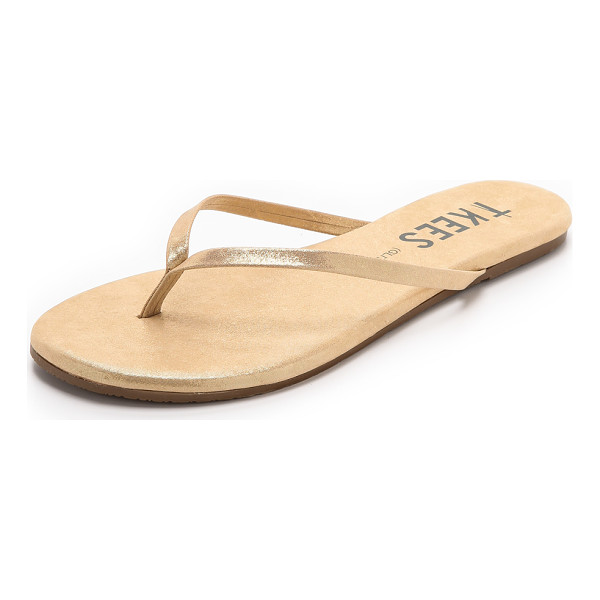 TKEES Glitters flip flops - A shimmering leather upper and footbed bring a touch of...