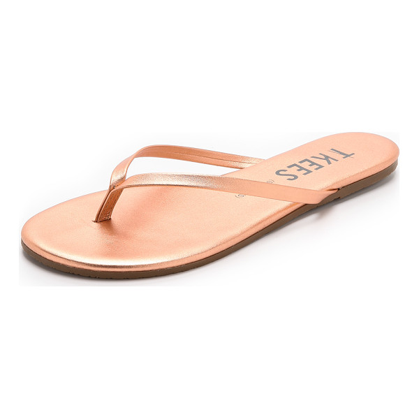 TKEES Shadows flip flops - Slender metallic leather straps lend a barely there look to...