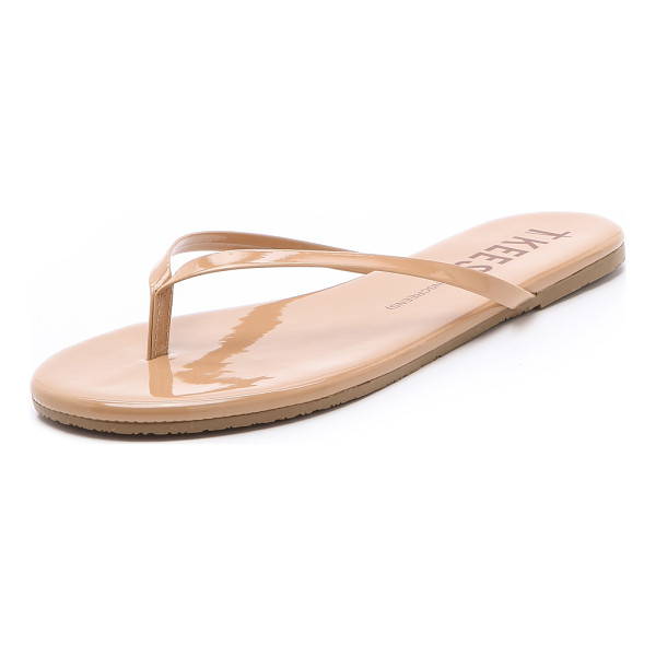 TKEES sunscreens patent flip flops - A makeup palette for the feet, these TKEES flip-flops shine