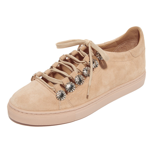TOGA PULLA embellished sneakers - Starburst studs trim the cutout top on these suede Toga