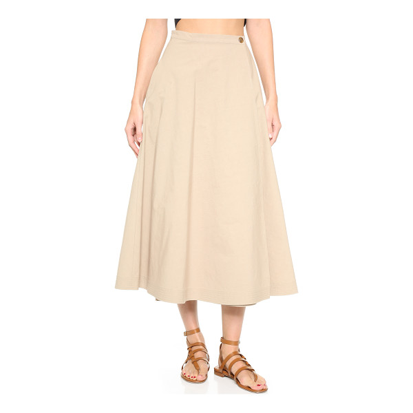 TOME Combed cotton a line skirt - A Tome wrap skirt in a sophisticated midi length. On seam...
