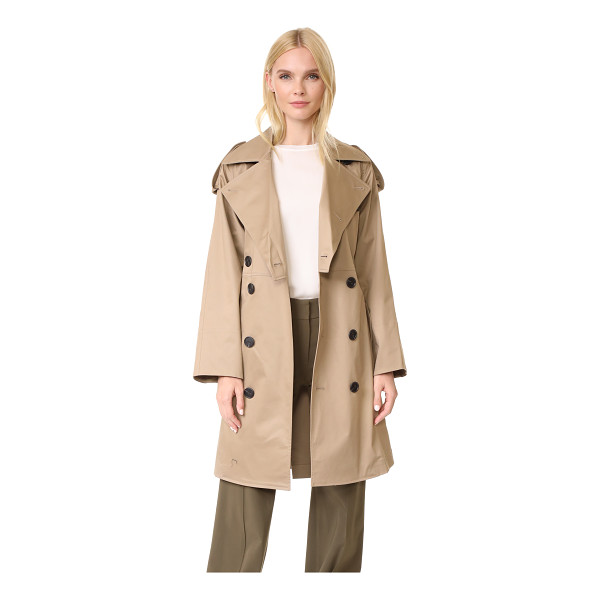 TOME cropped trench coat - A smart Tome trench coat in a classic double-breasted...