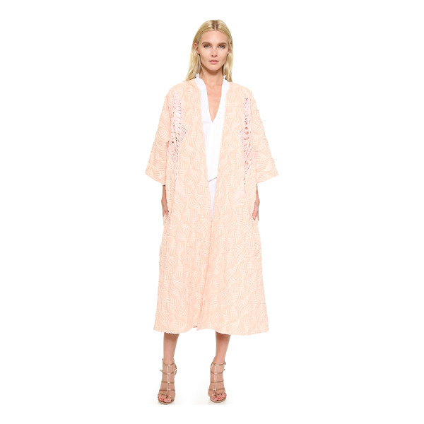 TOME Fan jacquard a-line coat - An intricate fan pattern brings luxe detail to this...