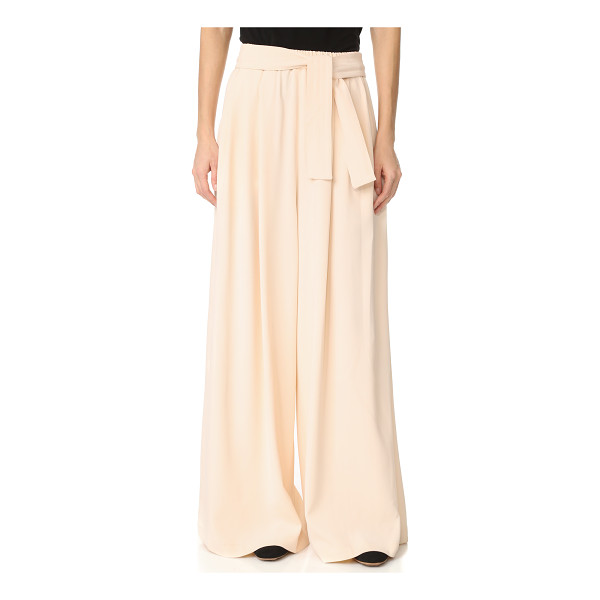 TOME long karate pants - Pleated Tome wide-leg pants with an effortless drape. Slant...
