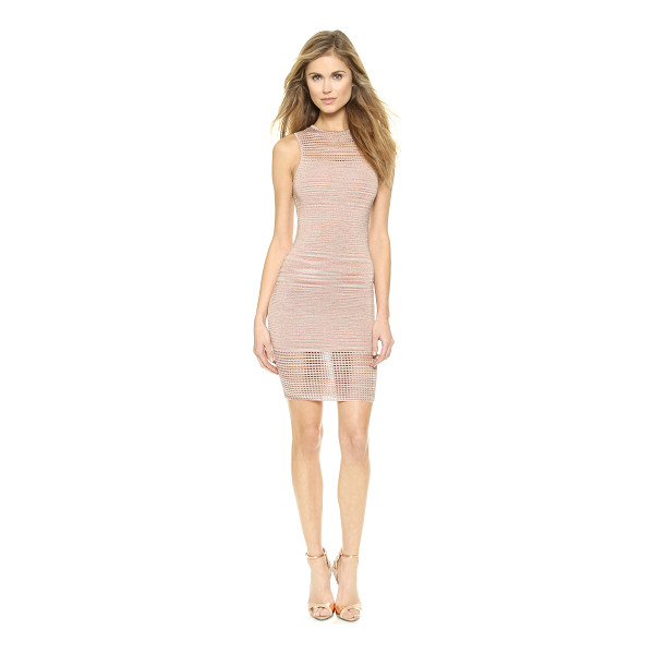 TORN BY RONNY KOBO Ambrosia space dye dress - Sheer eyelet panels add a sexy touch to this formfitting...