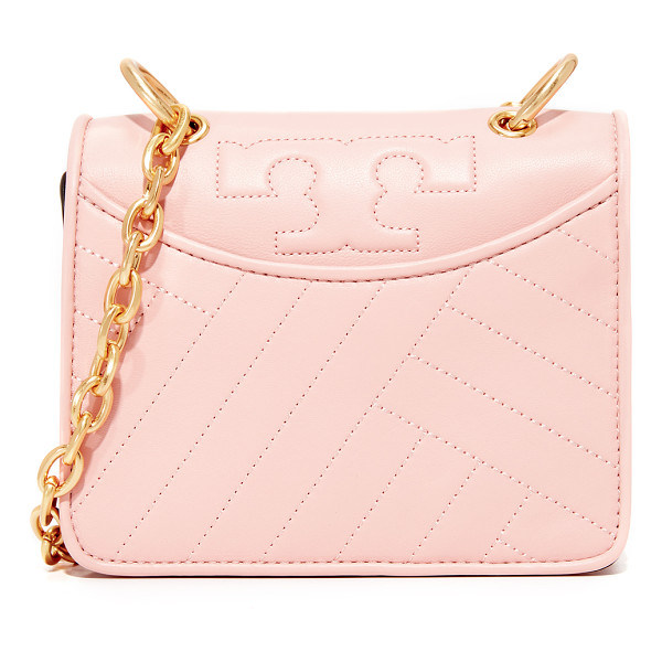 TORY BURCH alexa mini shoulder bag - A leather Tory Burch bag with the brand's signature T logo....