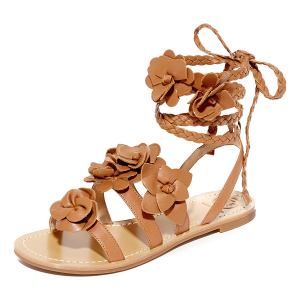 TORY BURCH Blossom gladiator sandals - Delicate flowers accent these soft leather Tory Burch...