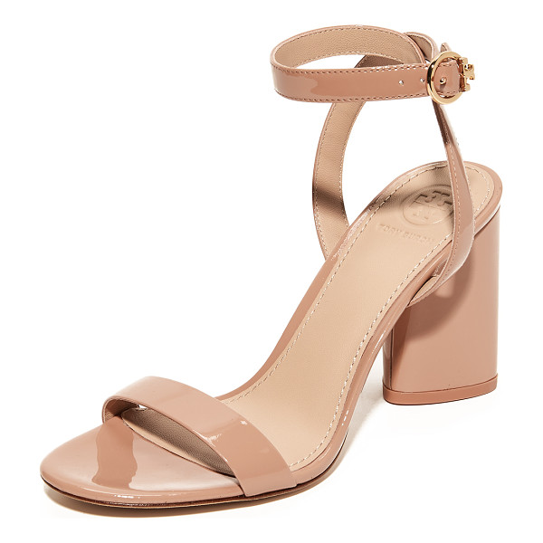 TORY BURCH elizabeth 2 sandals - Lustrous patent leather Tory Burch sandals, styled with a...