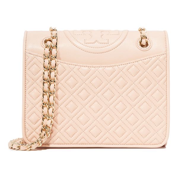 TORY BURCH Fleming medium bag - Quilted leather composes this Tory Burch cross body bag....