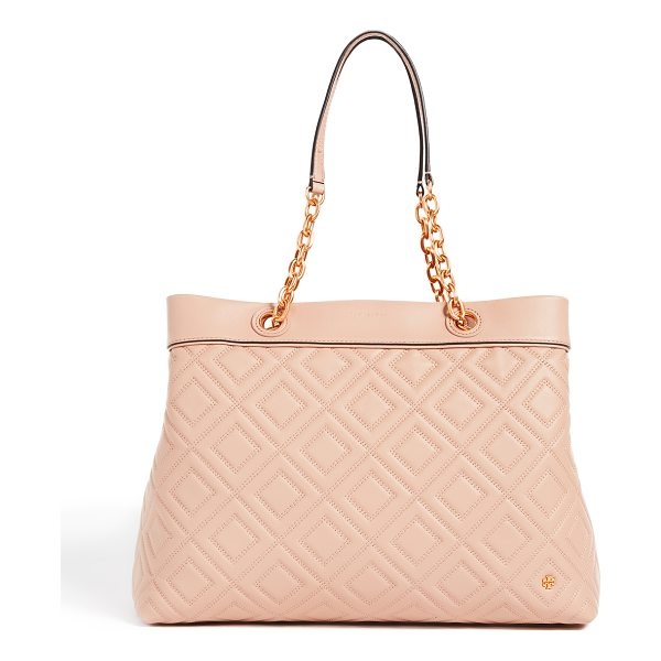 TORY BURCH fleming triple compartment tote - A spacious Tory Burch tote in luxe, quilted leather. The...