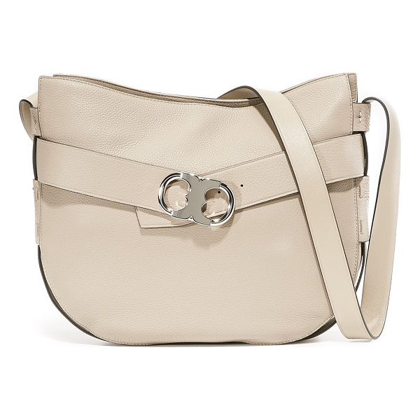 TORY BURCH gemini link shoulder bag - A decorative belt with a polished logo buckle circles this
