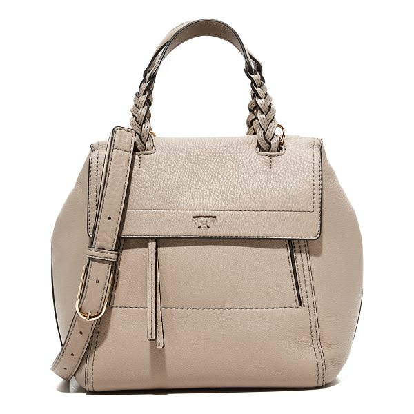 TORY BURCH half moon small satchel - A slouchy Tory Burch bag in pebbled leather. A magnetic tab...