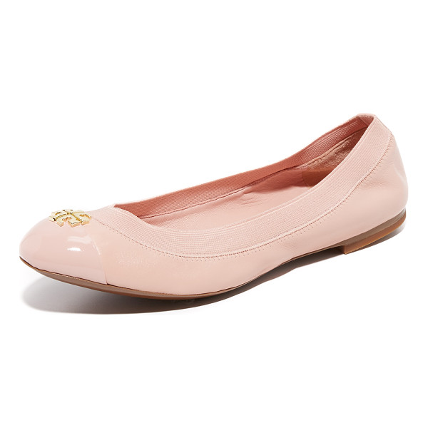 TORY BURCH Tory Burch Jolie Ballet Flats - Smooth leather Tory Burch ballet flats with a logo...