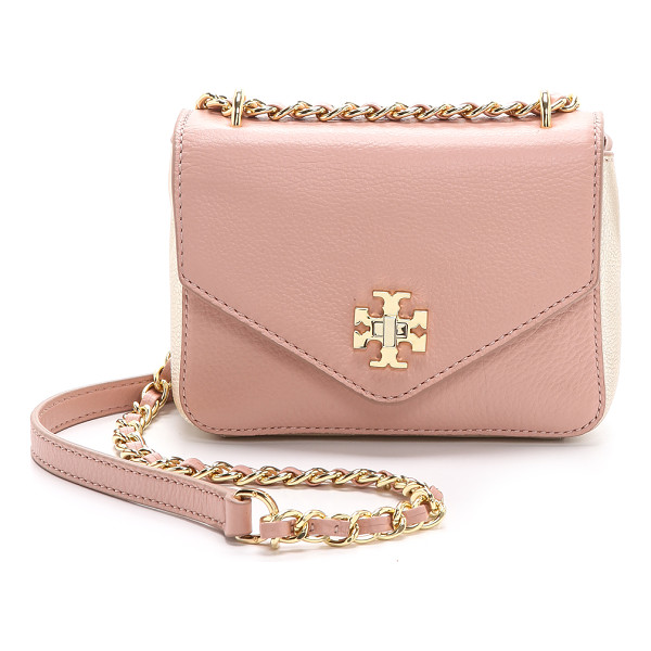 TORY BURCH Kira mini chain bag - Metallic trim brings a hint of glamour to this petite Tory