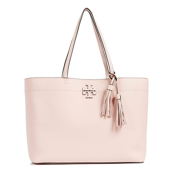 TORY BURCH mcgraw tote - Leather: Cowhide Spring-lock clasp at front Pouch interior...