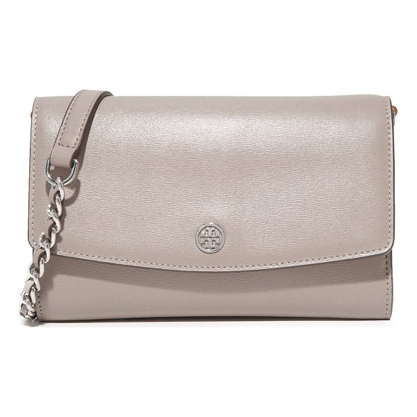 TORY BURCH parker chain wallet - A large Tory Burch wallet in slightly textured leather....