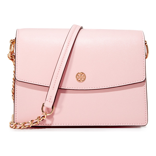 TORY BURCH parker convertible shoulder bag - Subtly textured leather composes this polished Tory Burch...
