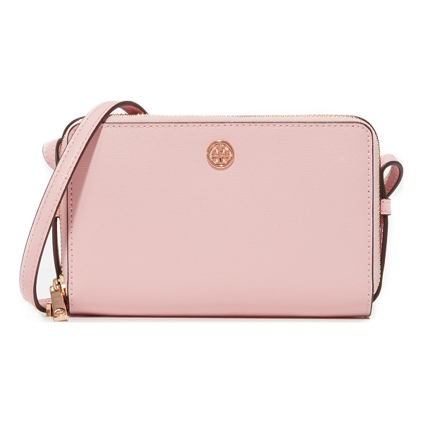 TORY BURCH parker double zip mini bag - A petite Tory Burch bag in a boxy silhouette. A logo stud...