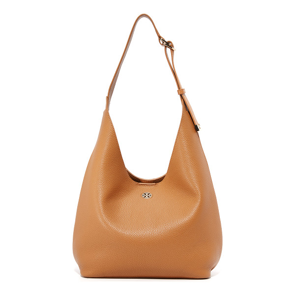 TORY BURCH Tory Burch Perry Hobo Bag - A roomy Tory Burch hobo bag in sophisticated pebbled