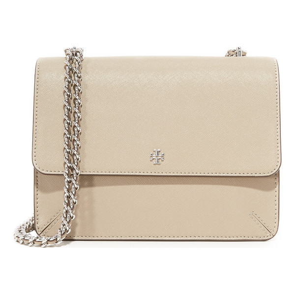 TORY BURCH robinson convertible shoulder bag - A sophisticated Tory Burch shoulder bag crafted in classic...