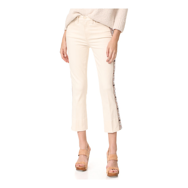 TORY BURCH sandy embroidered crop jeans - These slim Tory Burch cropped jeans are trimmed with...