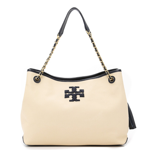 TORY BURCH Thea canvas slouchy tote - A casual canvas Tory Burch tote with embroidered logo