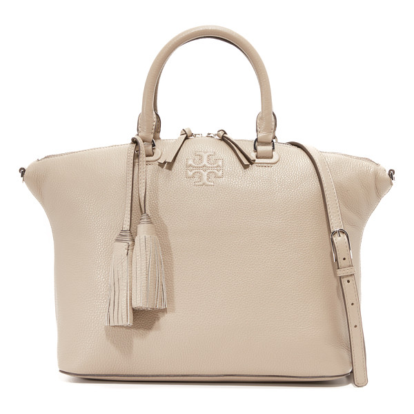 TORY BURCH Thea medium slouchy satchel - A simple Tory Burch tote in pebbled leather. Embossed logo...