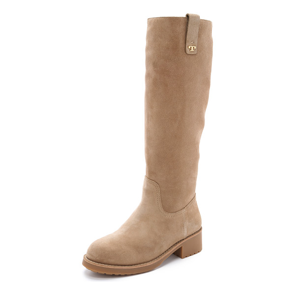 TORY BURCH Wayland tall boots - Knee high Tory Burch boots in cozy shearling. Pull tabs at