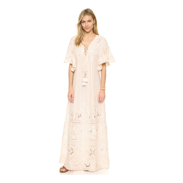 TRYB212 Chloe dress - Tonal embroidery and crochet lace lend a free spirited feel...