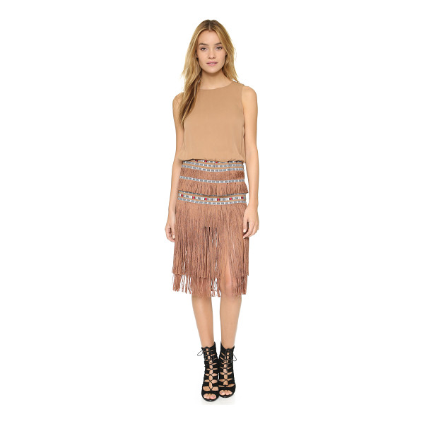 TWELFTH ST. BY CYNTHIA VINCENT Ocean fringe dress - Embroidered ribbons and tiered fringe give this Twelfth St....