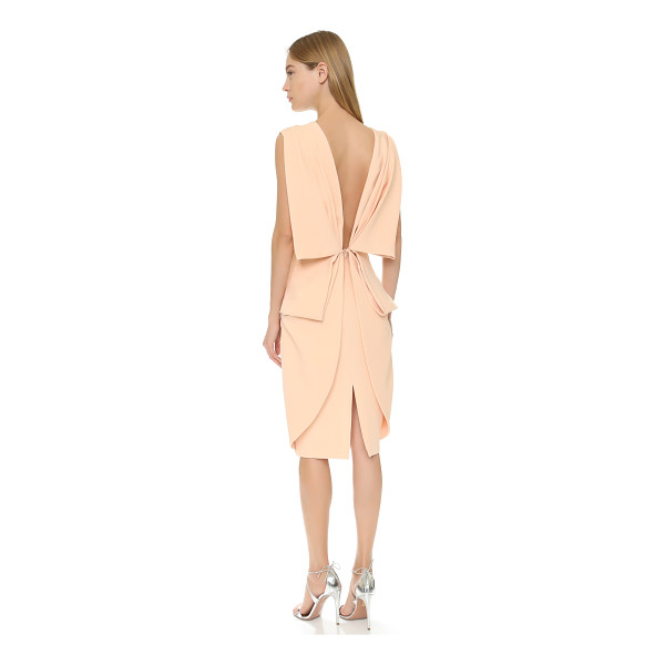 TY-LR Ty-Lr The Memoire Dress - A tailored TY LR sheath dress gains a soft finish from...