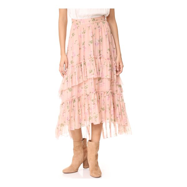 ULLA JOHNSON begonia skirt - A romantic Ulla Johnson skirt in crinkled silk crepe with a...