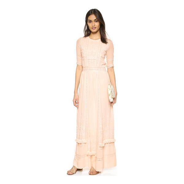 ULLA JOHNSON Clara dress - Delicate lace and embroidered detailing give  this silk Ulla.