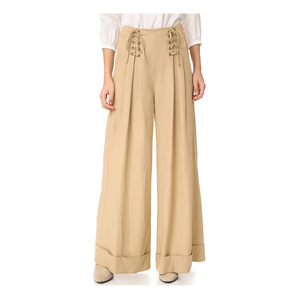 ULLA JOHNSON gaucho trousers - Ulla Johnson pants in a wide-leg profile. Lace-up ties and...