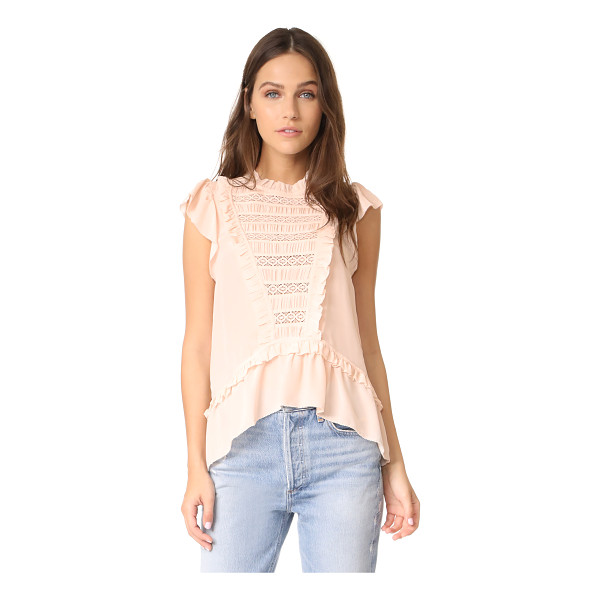 ULLA JOHNSON lois top - Lace trim and charming ruffles add feminine appeal to this...