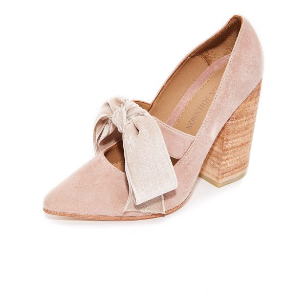 ULLA JOHNSON louis heels - Pointed-toe Ulla Johnson heels in pretty, pastel suede....