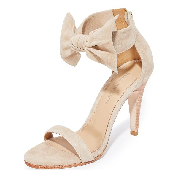 ULLA JOHNSON thecia heels - Open-toe Ulla Johnson heels with a charming bow at the...