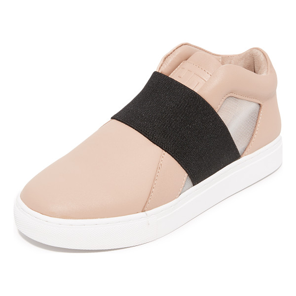 UNITED NUDE mesh sneakers - Sturdy leather United Nude sneakers styled with sheer mesh...