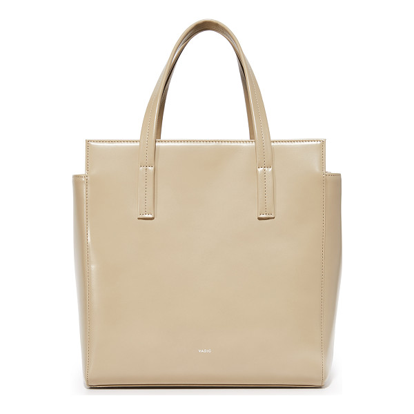 VASIC COLLECTION steady satchel - A spacious Vasic Collection bag in a boxy profile. A button...