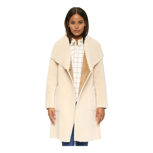 VELVET Drape faux shearling jacket - This cozy sherpa Velvet jacket is lined in soft microsuede....
