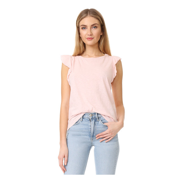 VELVET marylou top - Ruffled sleeves lend a charming finish to this soft jersey...