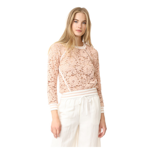 VERONICA BEARD jett lace top - This Veronica Beard top blends romantic and sporty styles,...